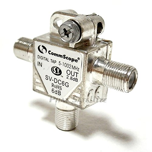 2 Piece COMMSCOPE SV-DC6G T-Type 6db COAXIAL DIGITAL TAP 5-1002Mhz DIRECTIONAL COUPLER