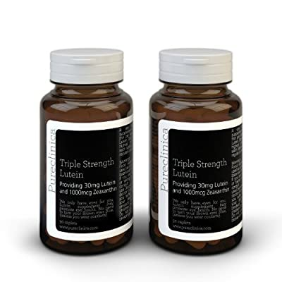 Lutein 30mg x 180 tablets (2 bottles with 90 tablets in each). With 1000mcg Zeaxanthin. 3 x the strength of regular Lutein tablets. LU3x2