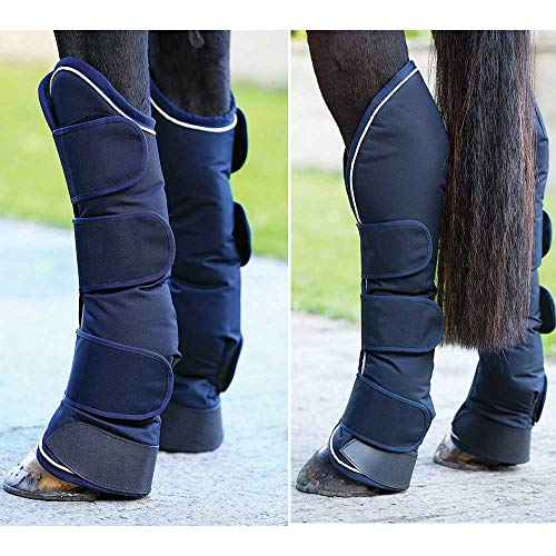 Horseware Rambo Travel Boots - Navy with Cream, Groesse:Warmblut (L)