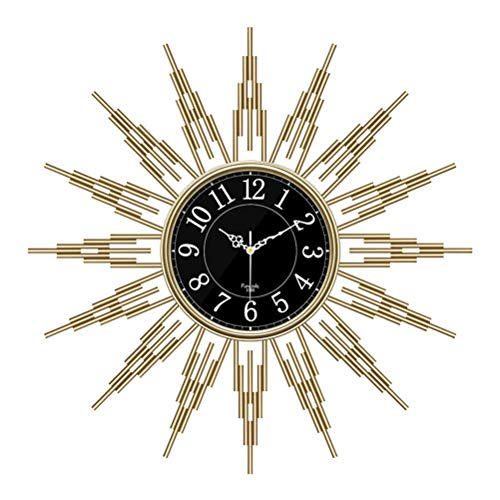 Decoración de Starburst grande de 25.6 'para el hogar, la cocina, la sala de estar, la oficina, instrumentos de mediados de siglo, reloj de pared geométrico de metal satelital, reloj de pared si