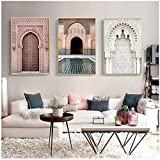 xwlljkcz 3 Stück Marokko Tür Landschaft Religion Nordic