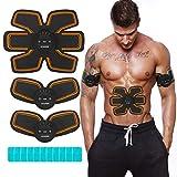 NAVANINO Electroestimulador Muscular Abdominales Masajeador Eléctrico para Cinturón, Abdomen/Brazo/Piernas/Cintura Entrenador Muscular, USB Recargable (Hombre/Mujer)