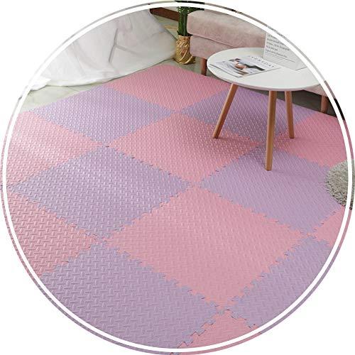 alfombra puzzle Bebe Suelo Goma Eva Espuma Antideslizante Resistente Al Desgaste Impermeable Proteccion Habitación Mezcla De Colores 1,2 Cm De Espesor (Color : C, Size : 30x30x1.2cm 4PCS)