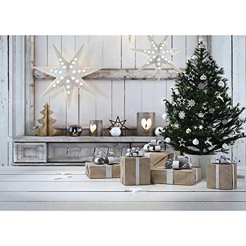 Allenjoy 7x5ft Interior Room Christmas Tree Photography Backdrop and Studio Props Xmas Eve Background Children Portrait New Year Party Decoration Banner Photo Booth