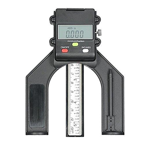 Preisvergleich Produktbild 0130 mm Digital LCD Display Höhe Gauge Tiefenmesser Tischkreissäge Höhe Gauge mit Drei Maßeinheiten Feststellschraube für Holz-Router Tisch