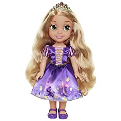 """Rapunzel is approximately 14"""" tall Rapunzel's dress is inspired by her story"""