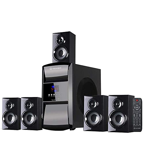 Truvison TV-6045bt 16000W Multimedia, 5.1 Home Theater System Speaker with Bluetooth USB SD FM Playback Support Feature Superior Sound Clarity Home Theatre 2018 Model