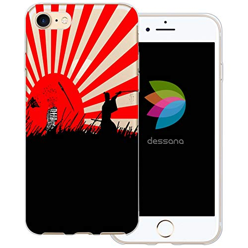 dessana Samurai - Cover protettiva trasparente per Apple iPhone 7 Samurai