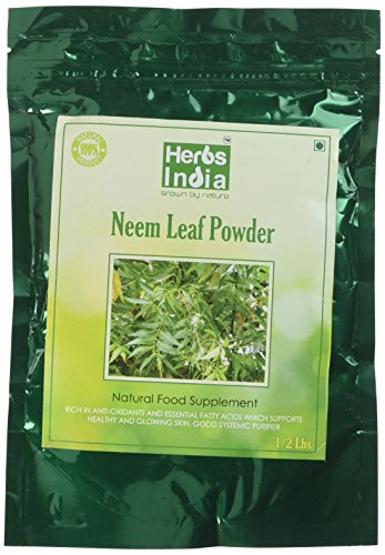 Neem Powder - Neem Leaf Powder - USDA Certified Organic, All Natural 8 Ounce - Herbs India