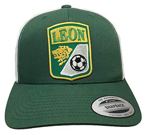 Mexico Leon Soccer hat Green White mesh The Authentic Snapback