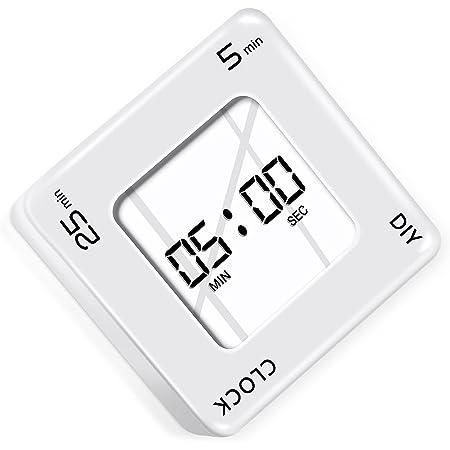 タイマー 勉強 キッチンタイマー 大画面 5分、25分 勉強タイマー 多機能 デジタルタイマー タイマー 勉強 DIY設定可能 タイマー 学習用 時間管理 十二ヶ月保証 日本語取扱説明書付き