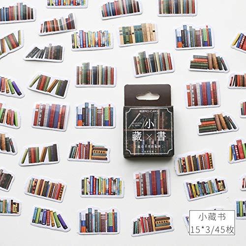 PMSMT Serie de Biblioteca Retro Kawaii Diario Papel Adhesivo Hecho a Mano Escamas de Japón Flor Libro Pegatina Scrapbookingpapelería