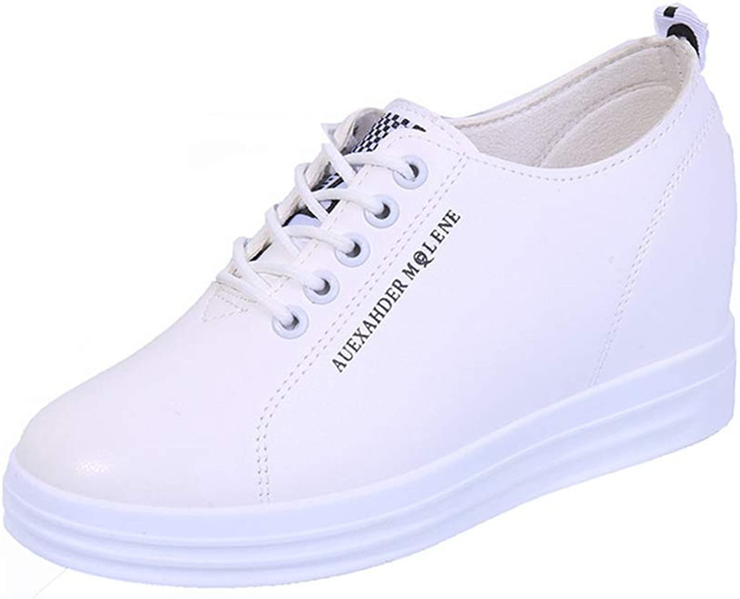 Hoxekle Women shoes Spring Autumn Wedges White Platform Sneakers Woman Vulcanize shoes Increase Casual shoes
