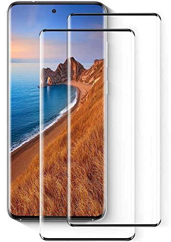 [2 Stück] Panzerglas Schutzfolie für Samsung Galaxy S20 Ultra,3D Curved Full Screen Schutz S20 Ultra,Anti-Kratzen,Anti-Öl,9H Glas Folie Bildschirmschutzfolie für Samsung S20 Ultra (Schwarz)