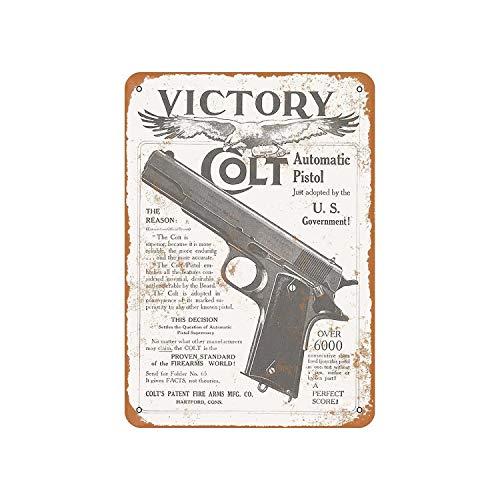Colt Round Logo Vintage Retro Tin Sign 12 x 12in
