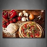 GYSS 1 Panel Wandbilder Bilder Pizza Tomaten Pfeffer Paste