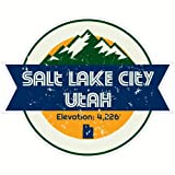 U.S. Custom Stickers Salt Lake City Utah Mountain Sticker, 3'