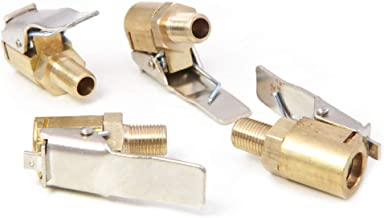 Ecisi Reifenventilverl/ängerung Adapter f/ür Auto Reifenventil Luftfutter Auto Reifen Schnellverschluss Adapter Stecker Messing Clip-on Auto Luftpumpe Gewinde D/üsenadapter 1 Pack