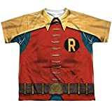 Batman Classic TV Series Retro Robin Costume Youth Front Print T-Shirt