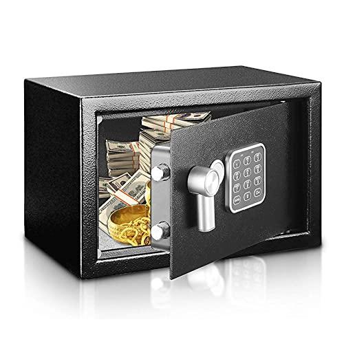 YJF-ZWS Caja De Seguridad Electrónica De Oficina con Llaves, Cajas De Bloqueo De Dinero, Cajas De Seguridad para El Hogar, Oficina, Habitaciones De Hotel, Mini Caja De 20 * 43 * 35 Cm