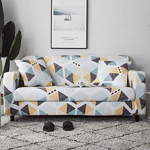 ZWL Bankovertrek met bloemenprint, elastische bankovertrekken voor woonkamer, hoekbank, handdoek, sofa 1-seat 90-140cm Kleur 6