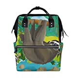 COOSUN Cartoon Sloth Nappy Changing Bag Diaper Backpack with Insulated Pockets Stroller Straps