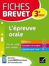 Fiches brevet L'épreuve orale - Spécial nouveau brevet de Cécile Gaillard