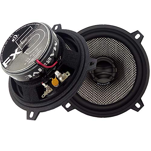 Massive Audio FX5 – 5.25 Inch, 240 Watts Max, 60 Watts RMS, FX Series Coaxial Speakers, 20mm Aluminum Dome Ferro Fluid, 6dB Linksworth Riley Crossover 4 Ohm (Sold AS Pair)