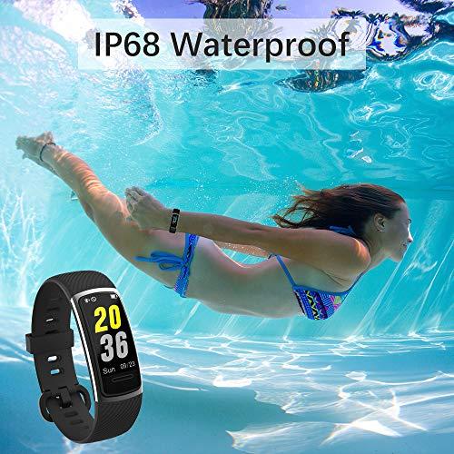 【Neuestes Modell】 Fitness Armband, KUNGIX Schrittzähler Uhr IP68 Wasserdicht Smartwatch Fitness Tracker mit Pulsmesser Smart Watch für Damen Herren Kinder iOS Android Kompatibel - 7
