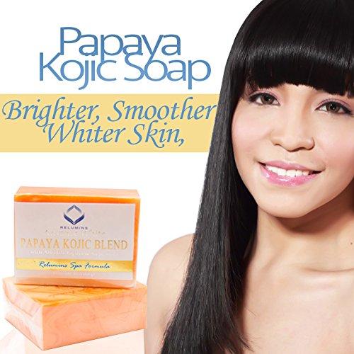 Relumins Triple Papaya Kojic Whitening Bar-Professional Spa Formula- 3X More Effective Than Diana Stalder Papaya Kojic Soap