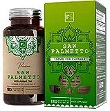 FS Saw Palmetto con Zinc 320mg por Capsula | 180 Capsulas Veganas de Alta Potencia | Serenoa Repens | Saw Palmetto Pelo, Prostata y la Salud Masculina — Sin OGM o Lacteos