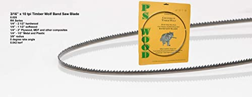 """new arrival Timber outlet sale Wolf 99 3/4"""" x 3/16"""" high quality x 10 tpi Band Saw Blade online sale"""