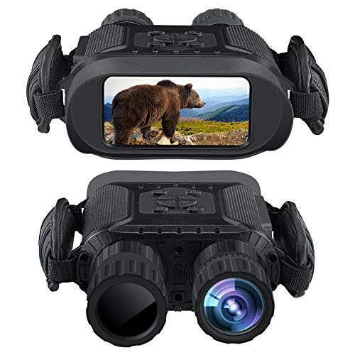 "Bestguarder Night Vision Binoculars, 4.5-22.5×40 HD Digital Infrared Hunting Scope Record 5mp Photo & 1280×720 Video with Sound by 4""Display Up to 400m/1300ft-Upgrade Version"