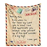 Mom Blanket to My Mom from Daughter Utra-Soft Fannle Throw Blanket for Coach Sofa Bed 60'x50'