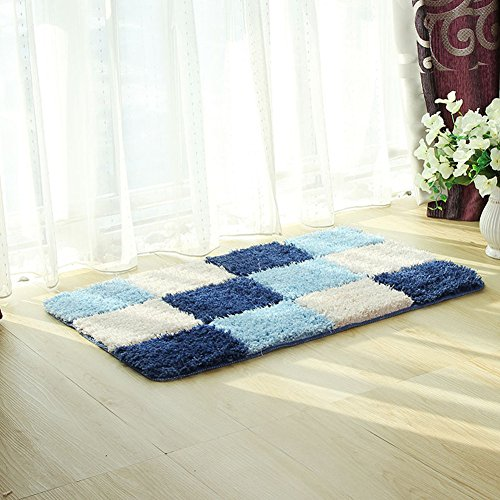 Moderna alfombra geométrica Fanjow®, antideslizante, lavable y de microfibra para dormitorio o...