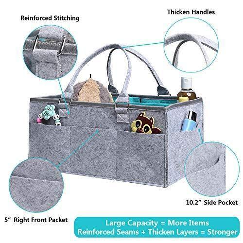 Renquen Baby Wischtücher Kinderspielzeug Tragbar Auto Reise Aufbewahrungskorb Baby Windel Caddy Organizer Baby Geschenk Korb für Baby
