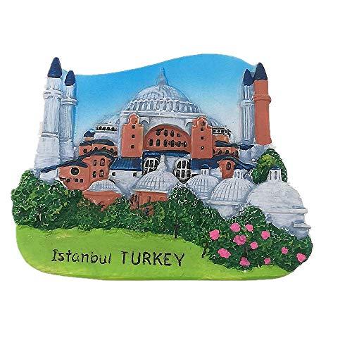 3D Istanbul Türkei Kühlschrankmagnet Home & Küche Dekorationsaufkleber, Istanbul Türkei Kühlschrankmagnet, Reise-Souvenir, Geschenk