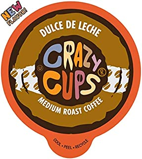 Crazy Cups Flavored Coffee for Keurig K-Cup Machines, Dulce de Leche, Hot or Iced Drinks, 22 Single Serve, Recyclable Pods