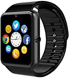 Blue Tooth Smartwatch Hangang Touchscreen Smart Watch GT08 Smartwatch Remote Camera Music Player Support SIM/TF Notification Reminder Fitness Wristwatch (Black)