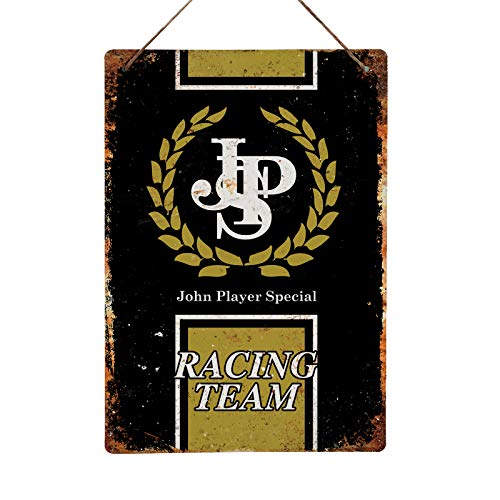 JPS RACING TEAM- Replica Vintage Metal Wall Sign Retro Pub Bar Mancave Garage Shed (14x20cm STICKY PADS)