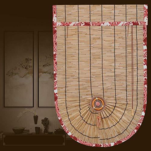 GYC Umweltfreundliche Sommer Outdoor Indoor Bambus Rollo Reed Vorhang Natur Bambus Vorhang Roller, Sonnenschutz wasserdicht und atmungsaktiv, Möbel Dekoration für Deck, Hof, Pavillon, Pe