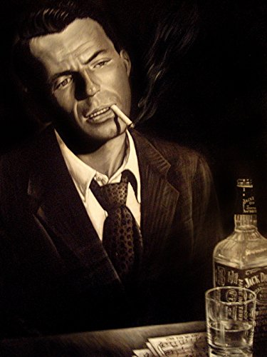 Frank Sinatra Retro Vintage Painting Smoking Portrait 32x24 Print Poster