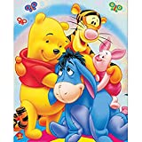 5D Diamond Painting Full Kit,Winnie The Pooh Dog 5D DIY Diamond Painting Kits for Adults Full Drill Painting Rhinestone Embroidery Pictures Cross Stitch Arts Crafts for Home Wall Decor,20'X16'
