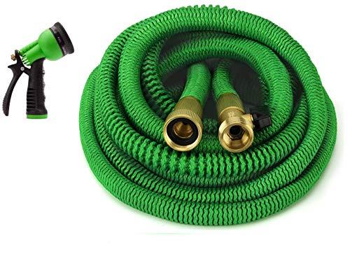 GrowGreen Expandable Garden Hose, Water Hose with High Pressure Hose Spray Nozzle, Flexible Garden...