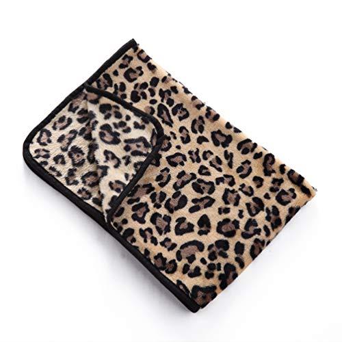 NaPuDt Haustier Hund Katze Decke, Premium Doppelseitige Fleece Weich Langlebig Bequem Hund Katze Warme Decken Für Tiere Leopard-L