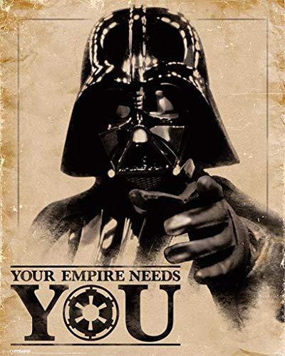 Pyramid International Star Wars Classic (Your Empire Needs You)–Mini Póster de 40x 50cm, plástico/Vidrio, Multicolor, 40x 50x 1,3cm
