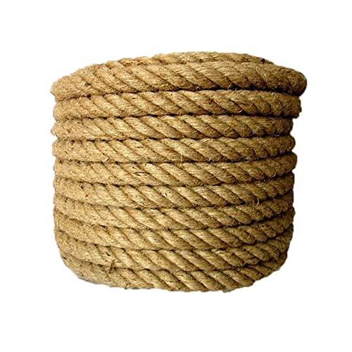 LiuliuBull 20 mm 5-50 m de la Cuerda de la Cuerda de la Cuerda de la Cuerda del cordón Natural del cáñamo de la decoración de Bricolaje de la decoración del Gato de la decoración del Animal doméstico