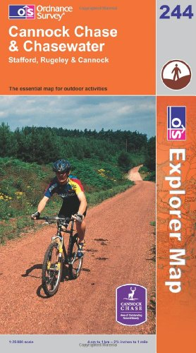 OS Explorer map 244 : Cannock Chase & Chasewater