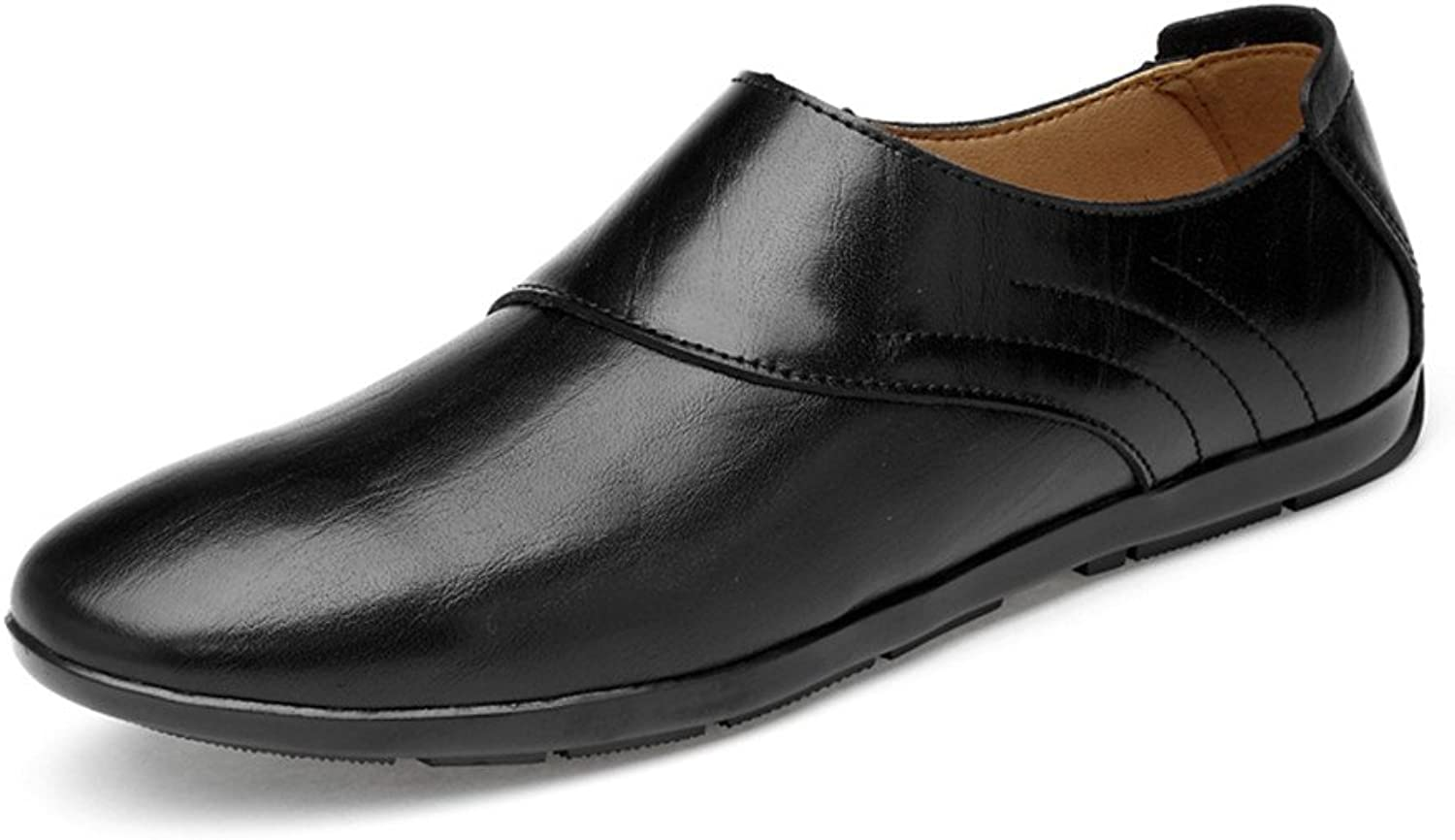 XHD- Classic shoes Classic Men's Loafers Casual Boat shoes Faux Leather Slip On Driving Moccasins (Hollow Optional)