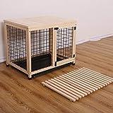 XIANGGUI 1983 Jaula de Perro Perro Jaula de baño de Madera Pequeña y Mediana Perrera del Perro doméstico en el Interior de la Jaula de embarque Jaula de Perro Perrito y Animales pequeños.